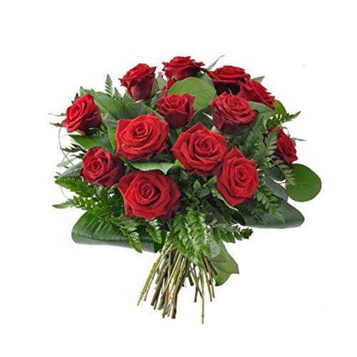 Florclick - Ramo de 12 Rosas Rojas. Flores frescas a domicilio