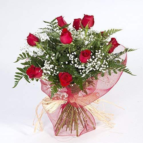 Ramo de 12 rosas rojas naturales FLORES FRESCAS-Entrega en 24 horas