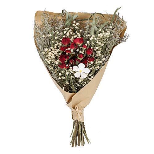 DWANCE Flores Secas Rosas Eucalipto Flores Secas Naturales Ramo Seco de Gypsophila Flores Secas Decoracion para Casa Bodas Habitación florero fotografía